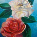 rode en witte roos